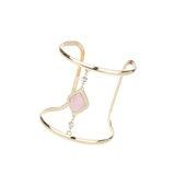Miss Selfridge Womens Stone Centre Cuff Gold Colour