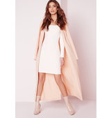 Missguided Long Sleeve Heavy Rib Bardot Bodycon Dress White