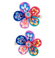 Monsoon 2X Fimo Flower Clips