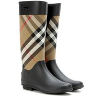Burberry Clemence Check Rubber Boots