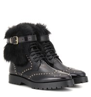 Burberry Whenaston Leather Ankle Boots