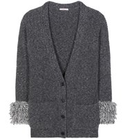 Christopher Kane Oversized Wool And Alpaca Blend Cardigan