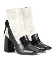 Erdem Andi Velvet And Leather Ankle Boots