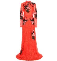 Erdem Carolyn Embroidered Appliqu Lace Gown