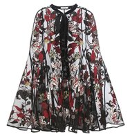 Erdem Flo Embroidered Organza Cape