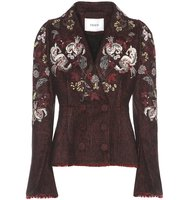 Erdem Marsha Embroidered Tweed Blazer