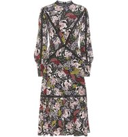 Erdem Oriana Printed Silk Dress