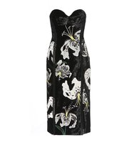 Erdem Rebecca Embroidered Velvet Dress