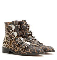 Givenchy Elegant Printed Leather Ankle Boots