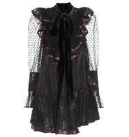 Marc Jacobs Tulle Trimmed Taffeta Dress