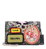 Miu Miu Jacquard Bag With Appliqu