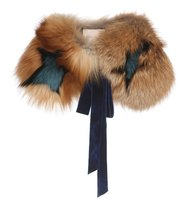 Roksanda Cimino Star Printed Fox Fur Collar