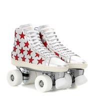 Saint Laurent Metallic Leather Roller Skates
