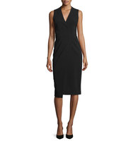 Alice Olivia Carissa Sleeveless Faux Wrap Dress