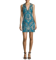 Alice Olivia Natalee Paisley Sleeveless Sheath Dress