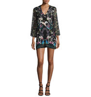 Alice Olivia Zia Mythical Garden Printed Kaftan Dress