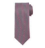 Brioni Diamond Print Silk Tie