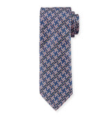Brioni Plaid Diamond Puzzle Silk Tie