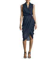 Camilla and Marc Draped Sleeveless Cocktail Dress