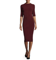 Camilla and Marc Half Sleeve Knit Bodycon Cocktail Dress