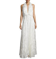 Camilla and Marc Sleeveless Burnout Flowy Gown