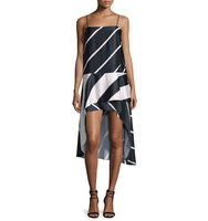 Camilla and Marc Sleeveless High Low Striped Dress