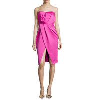 Camilla and Marc Strapless Pleated Sweetheart Cocktail Dress