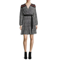 Diane von Furstenberg Bianka Long Sleeve Wrap Dress