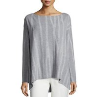 Donna Karan Long Sleeve Slash Neck Sweater