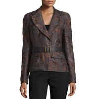 Donna Karan Narrow Belted Jacket