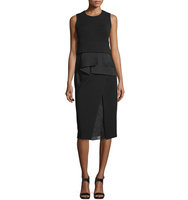 Donna Karan Sleeveless Dress With Organza Sculpt Detail