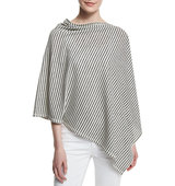 Eileen Fisher Striped Reversible Poncho