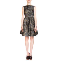 Erdem Kenya Bateau Neck Metallic Dress