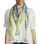 Johnny Was Randi Printed Silk Georgette Square Scarf