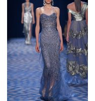 Marchesa Beaded Illusion Column Gown
