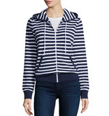 Michael Kors Collection Michael Kors Long Sleeve Striped Hoodie
