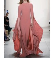 Prabal Gurung Cowl Back Fan Sleeve Gown