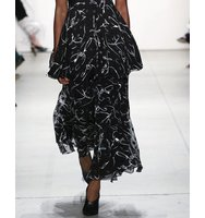 Prabal Gurung Printed Cropped Wide Leg Pants