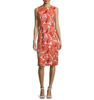 Prabal Gurung Sleeveless Jewel Neck Lace Sheath Dress