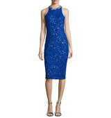 Rachel Gilbert Gidget Embellished Fitted Dress