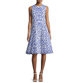 Rachel Gilbert Kiko Sleeveless Embroidered Dress