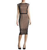 Rachel Gilbert Savannah Cap Sleeve Lace Dress