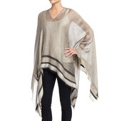 Rag and Bone Border Stripe V Neck Poncho