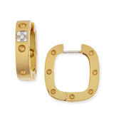 Roberto Coin 18k Yellow Gold Pois Moi Square Earrings with Diamonds