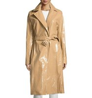 THE ROW Kelma Belted Leather Trenchcoat