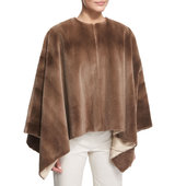 THE ROW Rongar Mink Fur Poncho