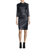 THE ROW Sobee Long Sleeve Leather Dress