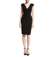TOM FORD Cap Sleeve V Neck Sheath Dress