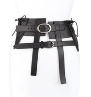 TOM FORD Double Strap Lace Up Leather Hip Belt