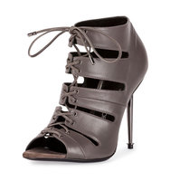 TOM FORD Open Toe Lace Up 105mm Bootie